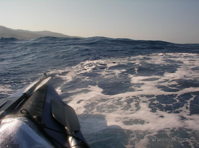 The breaking waves, 2nm off the coast of Folegandros