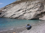 Our Folbot GII sea kayak in Katergo beach
