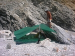 Tarping offers so many shade options and it is an essential piece of gear in Greece