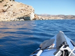 Entering the bay of Kalandos, the south coast of Naxos island