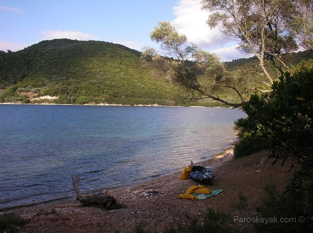 Our campsite in Thilia islet