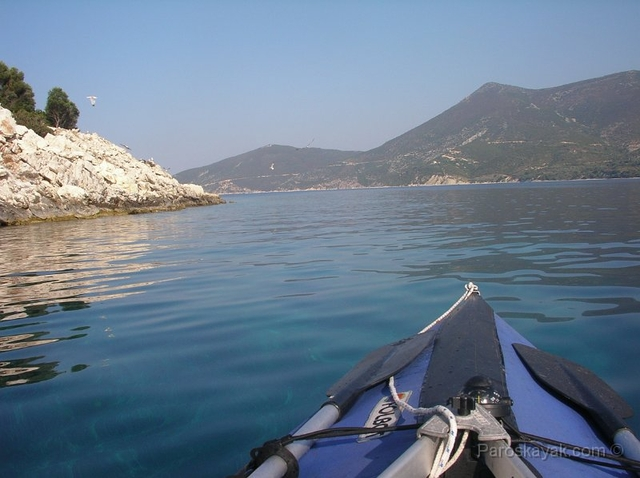 Rounding the North coast of Kastos and heading to Kalamos island
