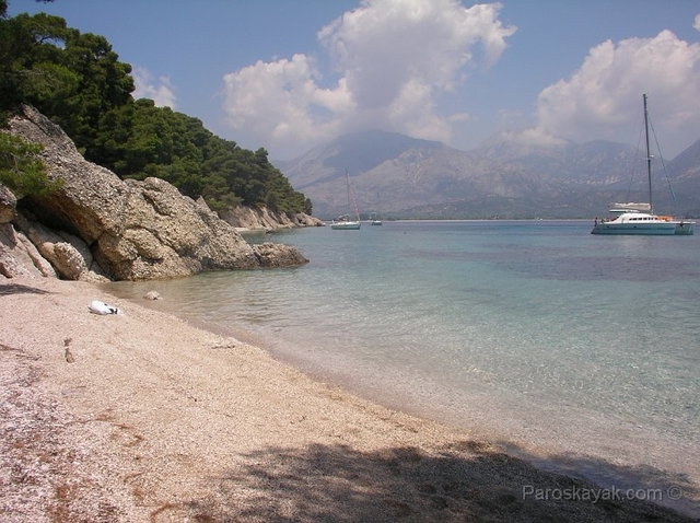 Asprogiali in North Kalamos is a gem of a coastline known for its majestic coves