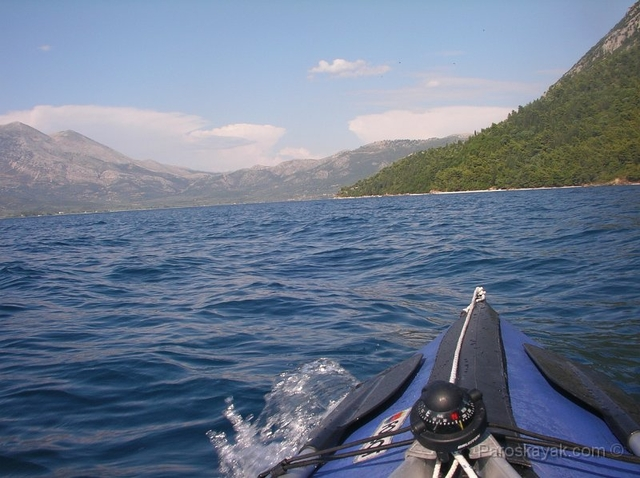 Paddling from Episkopi village towards the North coast of Kalamos island