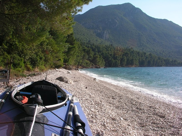 Campsite at Kastro beach, North Kalamos island