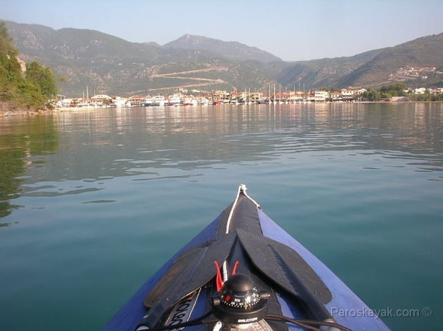 Paddling back to Nydri after a week in the glassy Ionian Sea