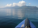 Paddling towards the Piso Aetos