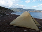 Camp in Alkyonides islands