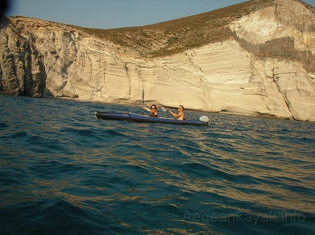 Sea Kayaking the west coast of Antiparos