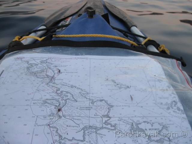 Paddling a southerly course to Kos island