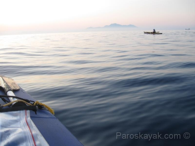Open water crossing from Kos to Nisyros islands
