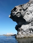 Rock sculpture in the Sea of Cortez