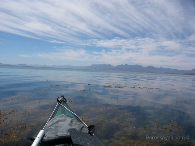 Sea kayaking in the Sea of Cortez