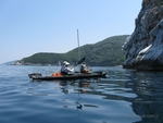 Sea kayaking in Pelion