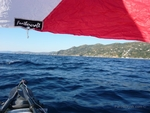 Sailing south towards the cape Pounta
