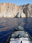 Paddling the rugged coastline in Astypalaia