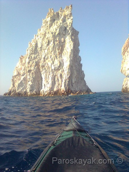 Paddling in the SE coast of Poliegos