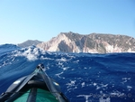 Crossing to Poliegos. NW wind, force 6, with waves 2m high