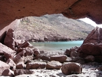Sun shelter in Isla Partida