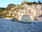 Our camp in Limnionas, Veneto of Pelion