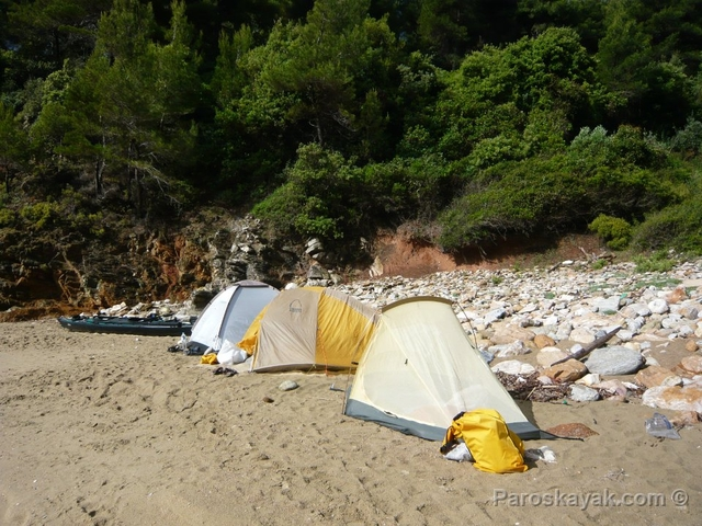 Our camp in Vlachorema cove
