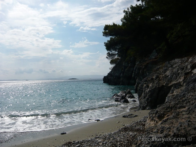 Looking WNW towards the Skopelos Skiathos channel