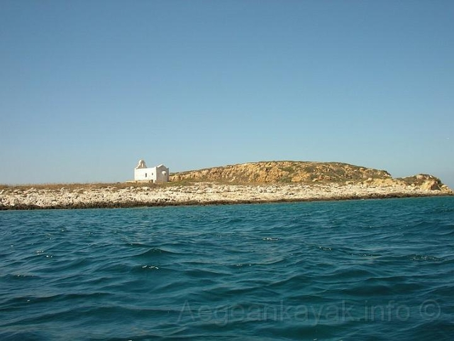 Small church on Tourlos islet