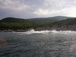Breaking waves, ithaki island