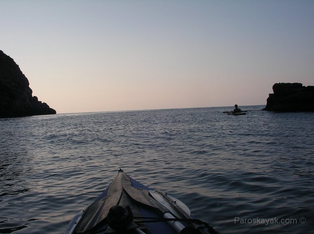 Paddling from Petali to Chiliadou